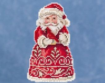 Santa With Cardinal Mill Hill Jim Shore Kit