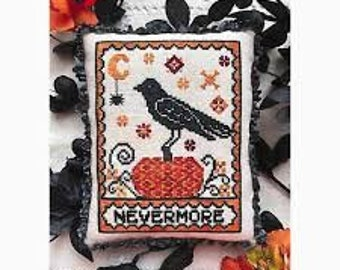A Raven's Reply cross stitch chart by Luminous Fiber Arts