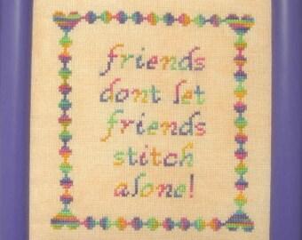 Friends Stitch Cross Stitch Chart PDF Download