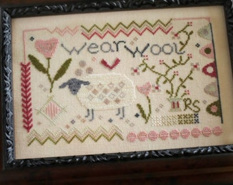 Wear Wool cross stitch chart by October House