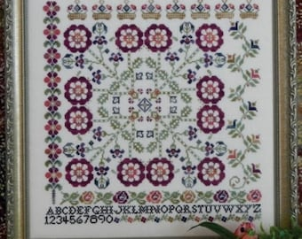 Tumbling Rose cross stitch chart from Rosewood Manor
