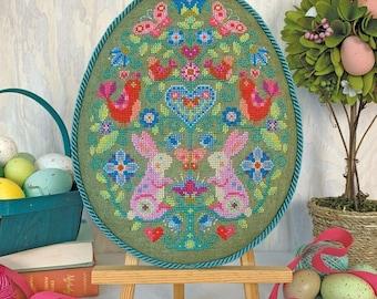 Egg Hunt cross stitch chart by Satsuma Street
