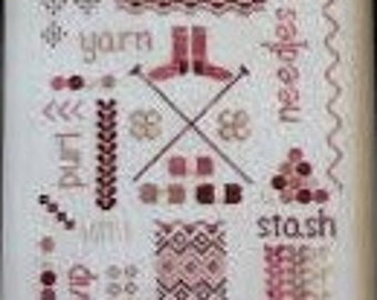 The Knitter's Sampler cross stitch chart by October House