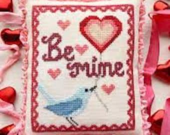 A Bluebird's Message cross stitch chart by Luminous Fiber Arts