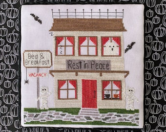 Bed and Breakfast cross stitch chart by Little Stitch Girl