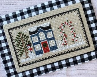 Frost House cross stitch chart by Little Stitch Girl