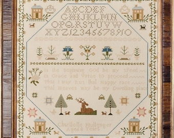 Charlotte Mullenger cross stitch chart by Erica Michaels Designs