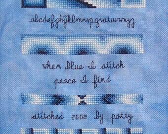 """Cross Stitch Chart """"Blues"""""""
