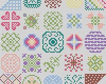 Summer Garden cross stitch chart PDF download