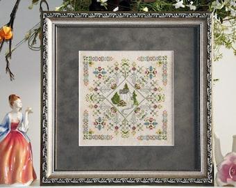 English Garden cross stitch chart Village Home Series #1