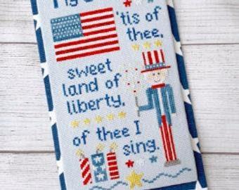 My Countryt cross stitch chart by Little Stitch Girl