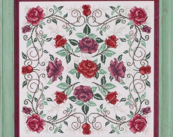 Rosaceae cross stitch chart by Glendon Place