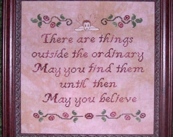 May You Believe Cross Stitch Chart PDF Download