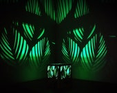 Light projector shadow lamp green forest