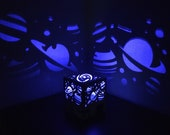 Space and stars light projector shadow lamp