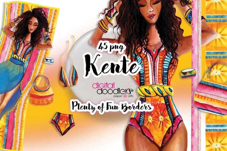 Watercolor African American Black Girl Graphics image 0