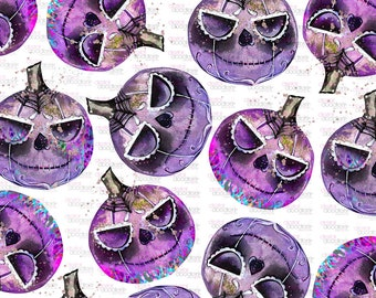 Watercolor Pumpkin Clipart, Painted Sugar Skull Pumpkins, Halloween Sublimation, Halloween Glitter Pumpkin, Halloween Clipart, PNG, Graphics