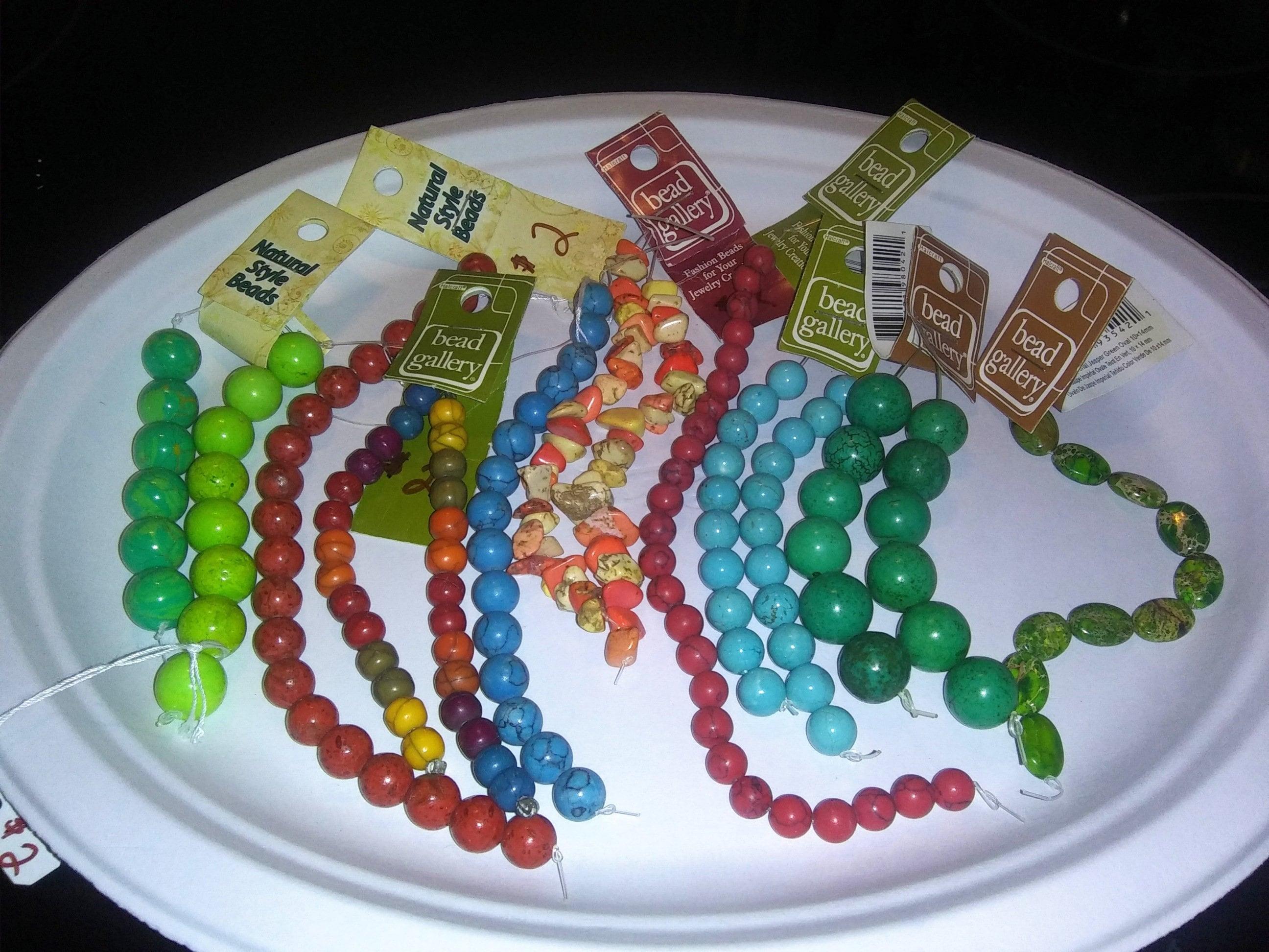 Huge Bead Lot Semi-Precious Gemstones 70+ strands Store Closing