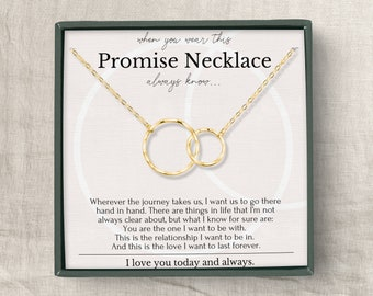 Necklace for Girlfriend, Valentines day gift for Girlfriend, Anniversary gift for Girlfriend, Promise necklace for girlfriend from Boyfriend