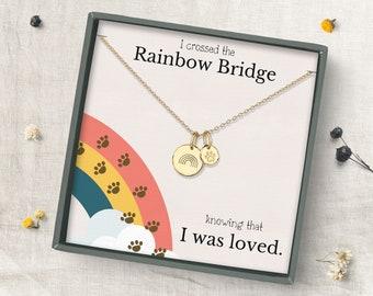 Rainbow Bridge Dog necklace, Loss of Dog memorial Jewelry, Dog loss gifts, Pet memorial necklace,  necklace, Pet sympathy, necklace gift