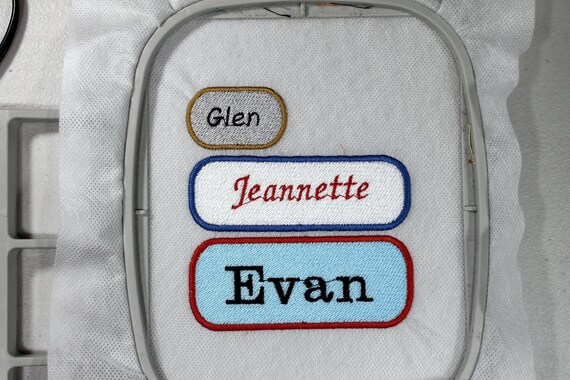 Blank Name Patches Fsl Machine Embroidery Design 3 Sizes Etsy