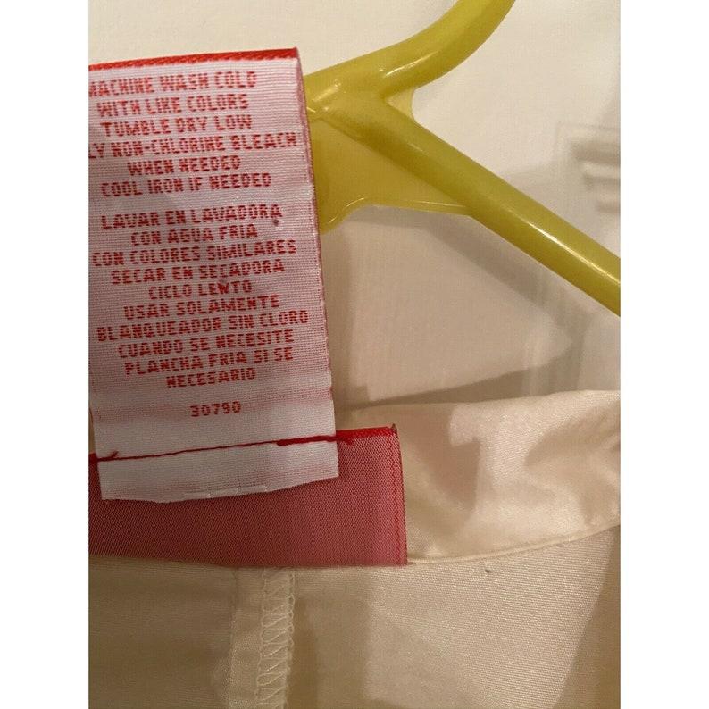 Vintage Plus Oscar De La Renta Blouse Shirt Top Ruffles Hook And Eye Dressy 18W