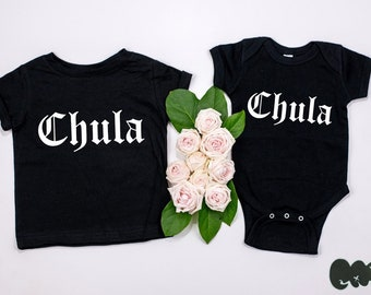 """Baby Chula infant bodysuit/or toddler tee (black