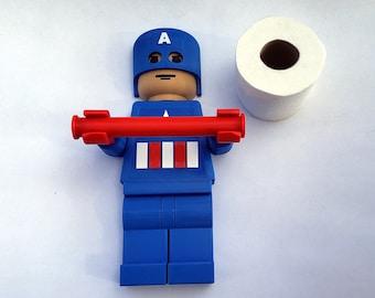 Marvel Comics Captain America Toilet Paper Holder   Captain America   Marvel Comics   Superheroes Decor   Kids Bathroom Decor   3D Printed