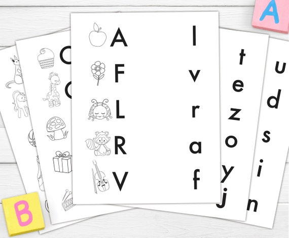 Alphabet Lower Case Letters Matching Game Printable Digital Etsy