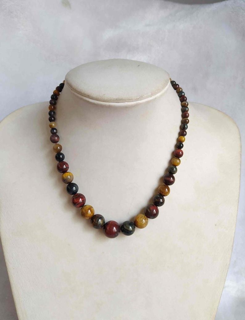Natural Tiger Eye/'s Gems Carved Necklace E535