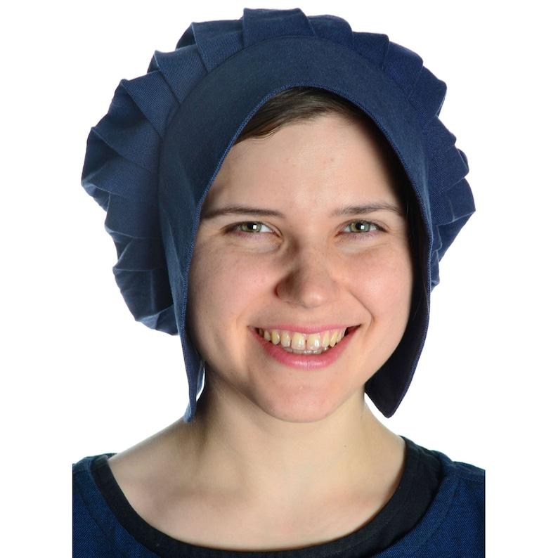 Black Blue Medieval Hood Lunete Cotton Beige HEMAD Garb LARP Brown Red Green White