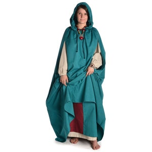 Black Medieval Leglings Wigalois Cotton Beige Blue Green Red Brown HEMAD Garb LARP Olive Green