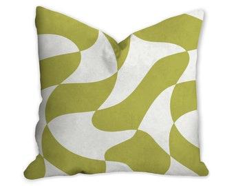 decorative green pattern pillow cover modern pillow modern Interior decor pillow insert home decor Abstract mod pillow pillow case