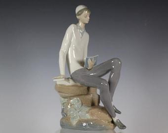 Casades porcelain figurine Like lladro Jewish boy reading scriptures