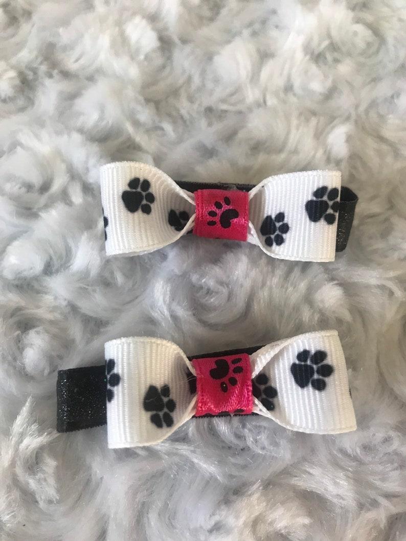 Paw Print Bow Set