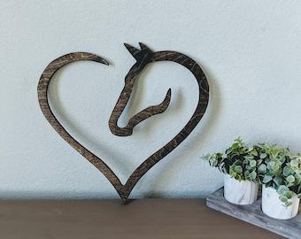 Hores Decor Designer Wood Horseshoe Art Horse Wood Sign Decor