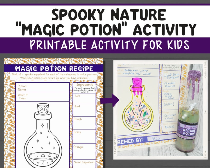 Spooky Nature Potion Activity  Printable Halloween Outdoor image 1