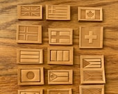 Flags of the World Leather Stamp, Delrin, for Clicker Press or Arbor Press