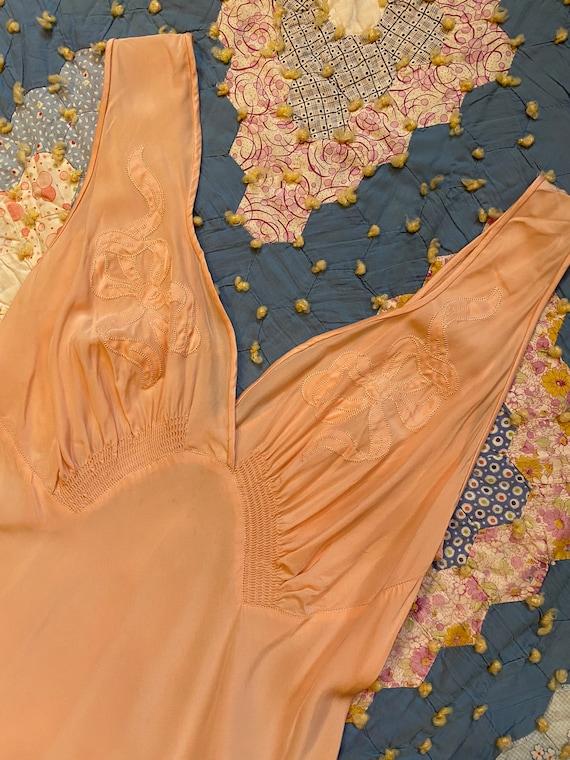 Vintage 1930s Slip Nightgown Lingerie Mondaine