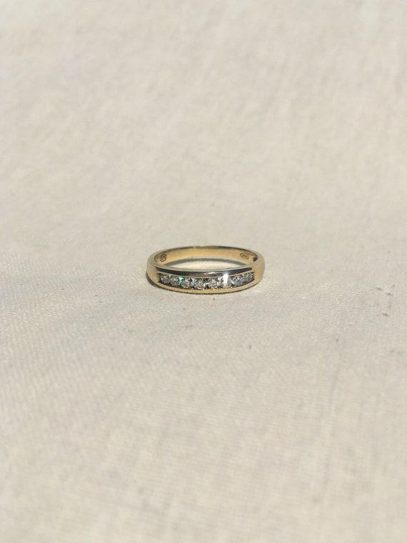 Preloved 9ct Channel Set Diamond Band 3.5mm Width