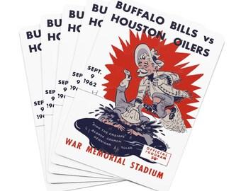 Vintage Buffalo Bills Promo Ad Poker Cards