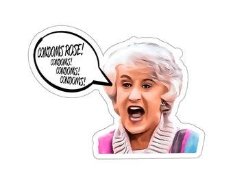 Condoms Rose! Golden Girls Kiss-Cut Sticker
