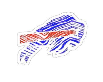 BIlls Zubaz Print Logo Die-Cut Sticker