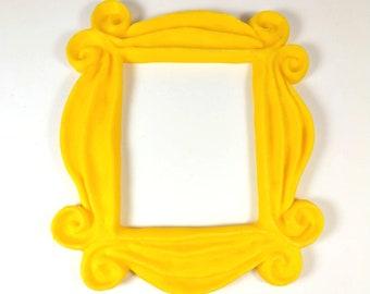 Custom Home Decor Friends Yellow Peephole Frame yellow