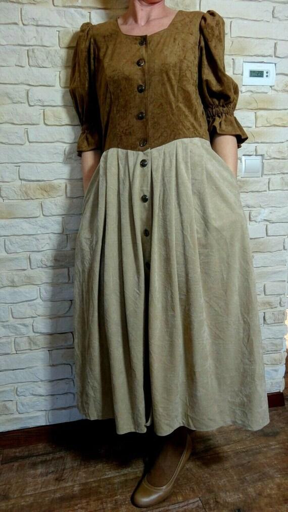 Cottagecore vintage dress Size L - image 8