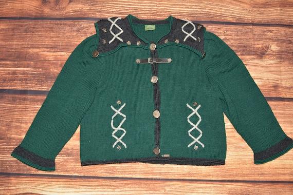 Austrian wool sweater Vintage sweater cardigan
