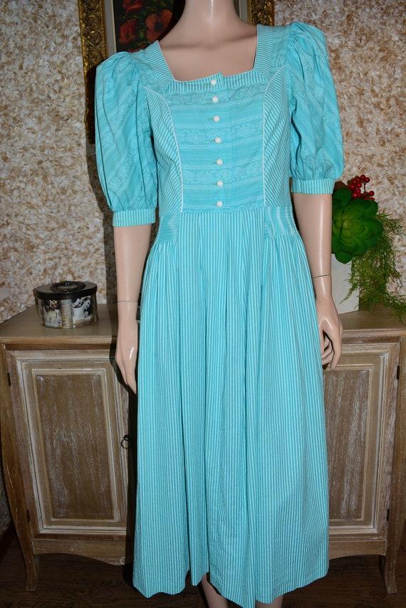 Vintage cotton dress Cottagecore dress Dirndl dre… - image 6