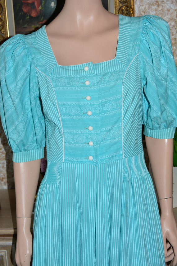 Vintage cotton dress Cottagecore dress Dirndl dre… - image 7