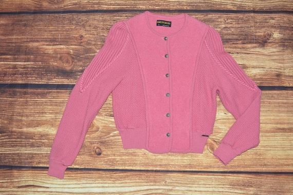 Wool Austrian cardigan Vintage dirndl sweater Size