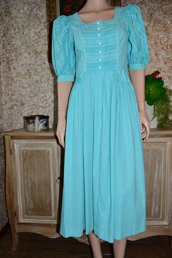 Vintage cotton dress Cottagecore dress Dirndl dre… - image 3